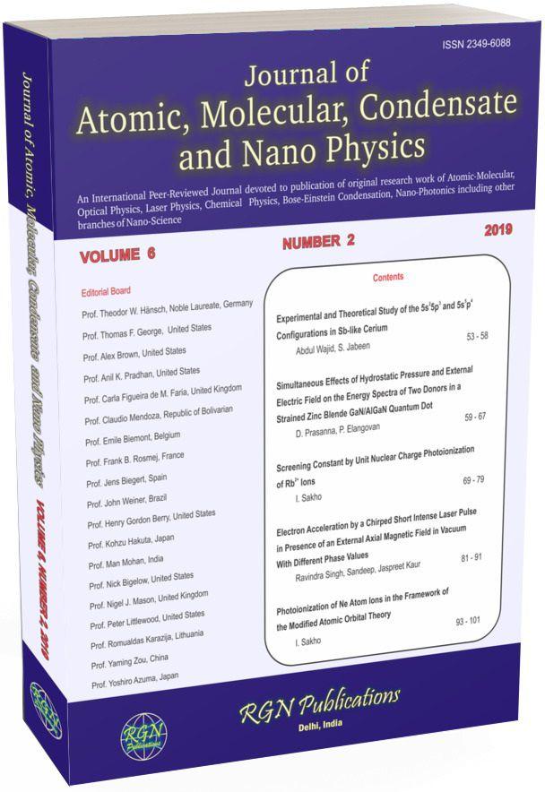 Journal of Atomic, Molecular, Condensed Matter and Nano Physics